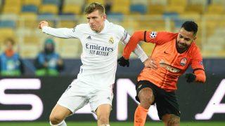 Kroos, durante un partido de Champions. (AFP)