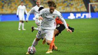 Modric, durante el Shakhtar – Real Madrid. (AFP)