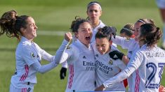 Las jugadoras del Real Madrid celebran un gol(@realmadridfem)