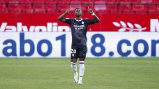 Vinicius celebra el gol. (Getty)