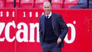 Zinedine Zidane durante el Sevilla-Real Madrid. (Getty)