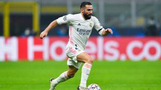Dani Carvajal, en el partido ante el Inter de Milán (Getty).