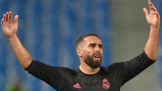 Carvajal, en un partido con el Real Madrid. (AFP)