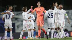 Los jugadores del Real Madrid, en un partido de Champions League. (Getty)