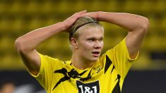 Haaland, durante un partido con el BVB (AFP)