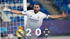 El Real Madrid se impuso 2-0 al Borussia Moenchengladbach en la Champions.