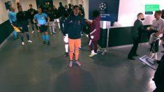 Florentino bajó al túnel de vestuarios para arengar a sus jugadores. (Movistar)
