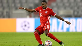 David Alaba, durante un partido con el Bayern de Múnich (Getty)