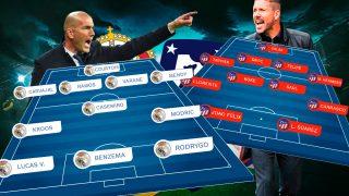 Real Madrid y Atlético se enfrentan este sábado en el Di Stéfano.