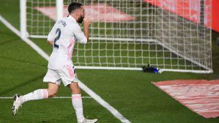 Dani Carvajal celebra su gol. (AFP)