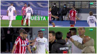 La secuencia de la tangana entre el Atlético y el Real Madrid.