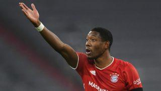 Alaba, durante un partido del Bayern (AFP).