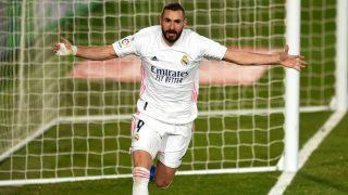 Benzema celebra un gol. (Getty)