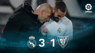 El Real Madrid ganó 3-1 al Athletic con doblete de Benzema.
