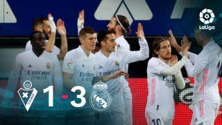 El Real Madrid se impuso 1-3 al Eibar.