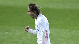 Modric celebra su gol al Eibar. (Getty)