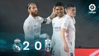 El Real Madrid gana al Granada gracias a un gol de Casemiro.