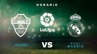 Liga Santander 2020-2021: Elche – Real Madrid| Horario del partido de fútbol de la Liga Santander.