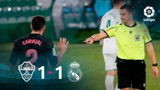 El Real Madrid no fue capaz de ganar al Elche (1-1).