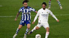 Isco con el Real Madrid frente al Alavés. (AFP)