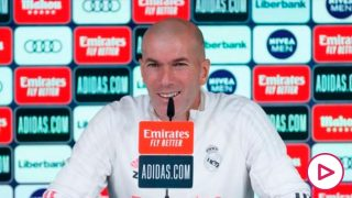 Zinedine Zidane, durante una rueda de prensa (Realmadrid.com).