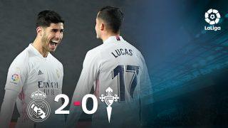 El Real Madrid se impuso 2-0 al Celta.