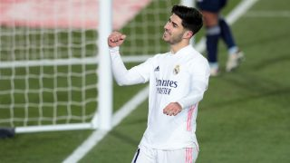 Marco Asensio celebra el gol. (Getty)