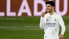 Asensio celebra un gol en un partido. (AFP)