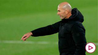 Zidane, en un partido en el Di Stéfano. (Getty)