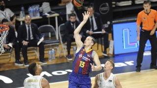 Heurtel, en un partido contra el Real Madrid. (ACB Photo)