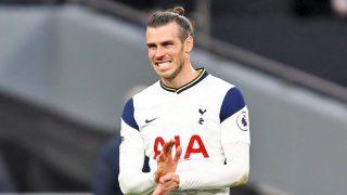 Gareth Bale durante un partido con el Tottenham.
