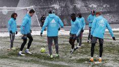 Los jugadores del Real Madrid, en el entrenamiento. (Realmadrid.com)
