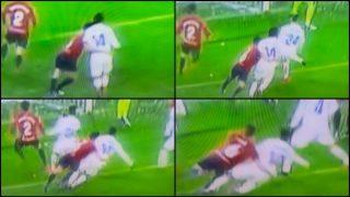 Posible penalti de Oier a Casemiro en el último minuto del Osasuna-Real Madrid.