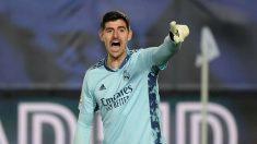 Courtois, en un partido de Liga. (AFP)