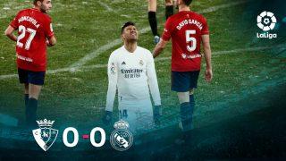 Osasuna y Real Madrid firmaron un 0-0 en El Sadar.