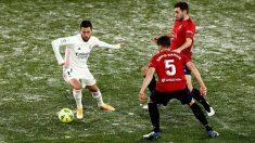 Hazard, durante un partido ante Osasuna. (EFE)