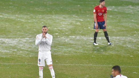Imagen del Osasuna-Real Madrid. (AFP)