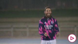 La emoción de Rergio Ramos cuando vuelve a escuchar a la afición celebrar un gol suyo