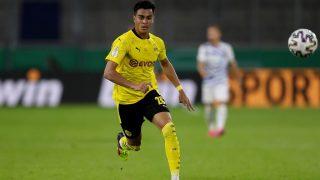 Reinier Jesús, durante un partido del Dortmund (Getty).
