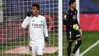Casemiro celebra un gol con el Real Madrid. (Getty)