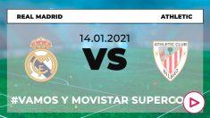 Supercopa de España 2020-2021: Real Madrid – Athletic | Horario del partido de fútbol de la Supercopa de España.