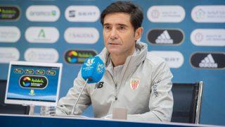 Marcelino durante una rueda de prensa.