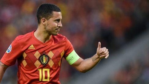 Eden Hazard, en un partido con la selección de Bélgica. (AFP)