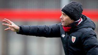 Marcelino, durante un entrenamiento. (EFE)