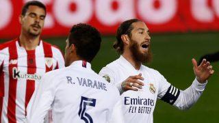Sergio Ramos, durante un partido. (EFE)