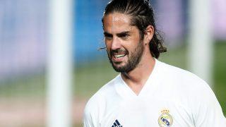 Isco, en un encuentro con el Real Madrid.