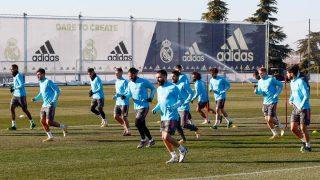 Entrenamiento de este domingo del Real Madrid. (@realmadrid)