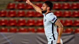 Giroud celebra un gol con el Chelsea. (AFP)