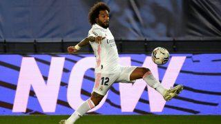 Marcelo, durante un partido del Real Madrid (AFP).