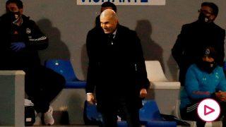 Zidane, durante un partido contra el Alcoyano. (EFE)